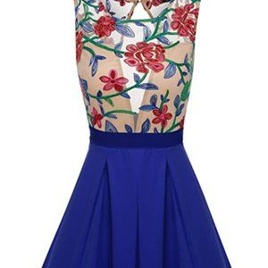 ACEVOG Casual Floral Fit n Flare Party Dress NEW